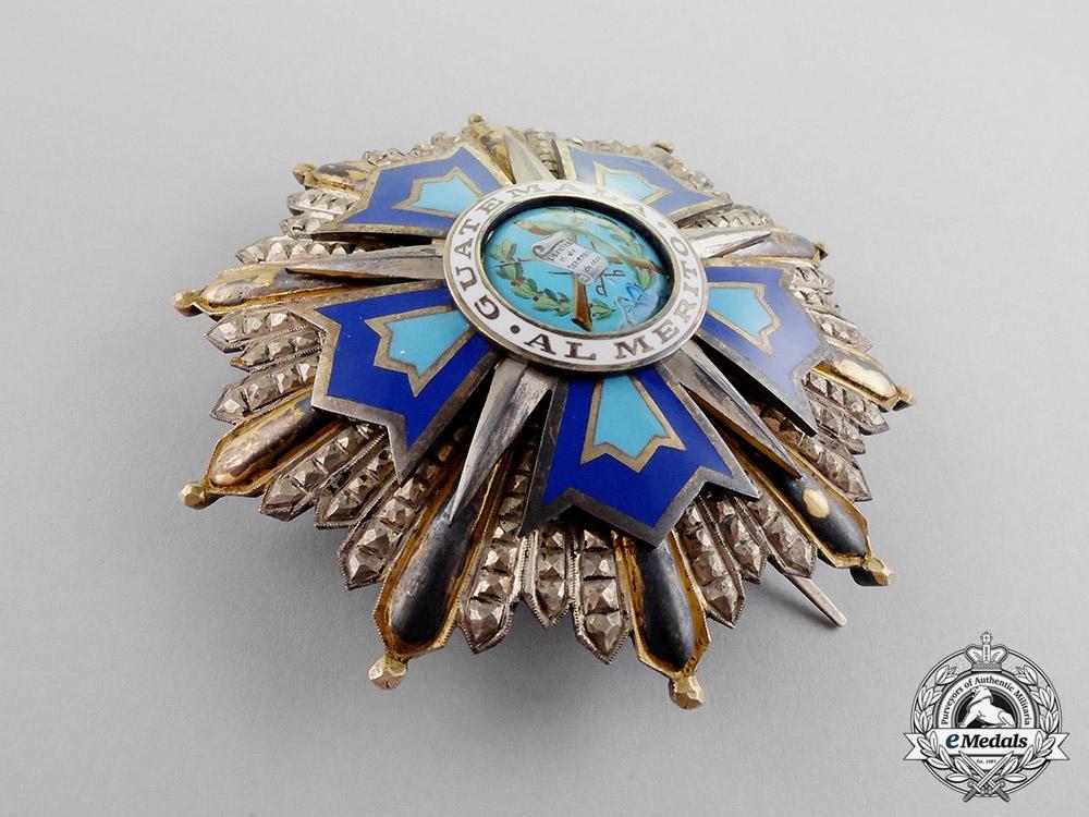 Guatemala. An Order of Quetzal, Grand Cross Star, Type II, c.1941
