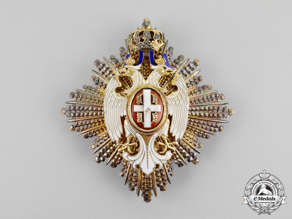 Serbia, Kingdom. An Order of the White Eagle, 1st Class Grand Cross, c.1915