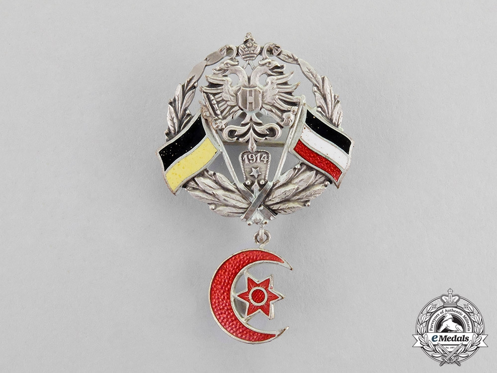 Turkey, Ottoman Empire. An Austrian-German-Ottoman Alliance Badge, c.1915