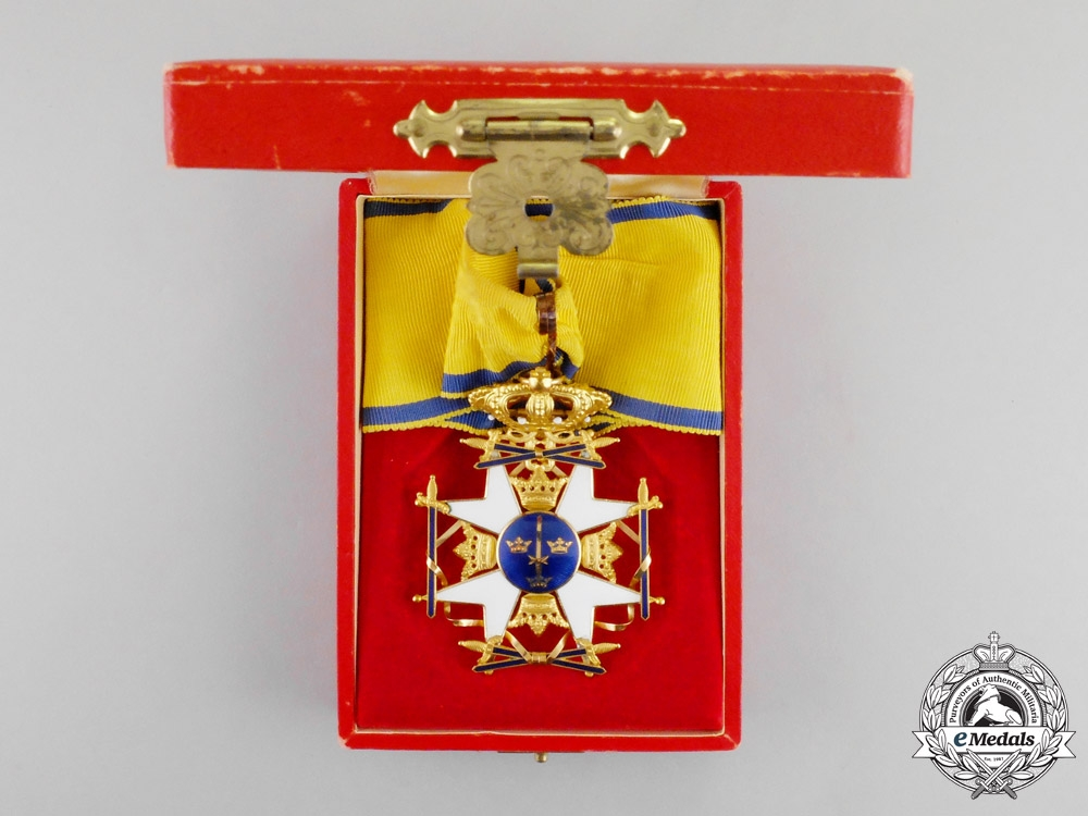Sweden. A Royal Order of the Sword in Gold, Commander with Ball Finials, c.1930