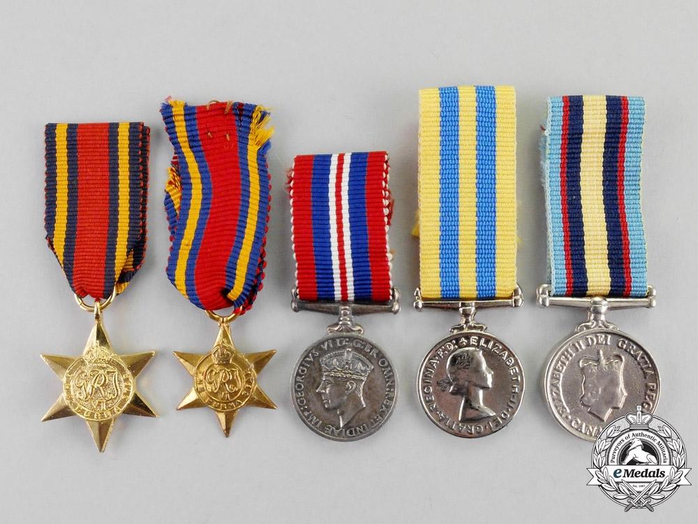 Canada. A Lot of Five Miniature Medals