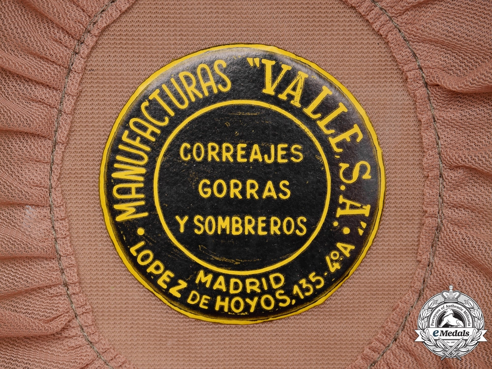 Spain. A Mint & Unissued Tricornio Spanish Civil Guard Cap by Valle S.A. of Madrid