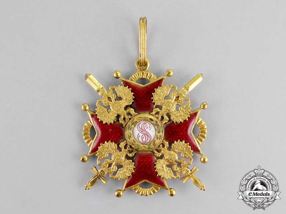 Russia, Imperial. An Order of St. Stanislaus, Commander, Military Division, c.1917