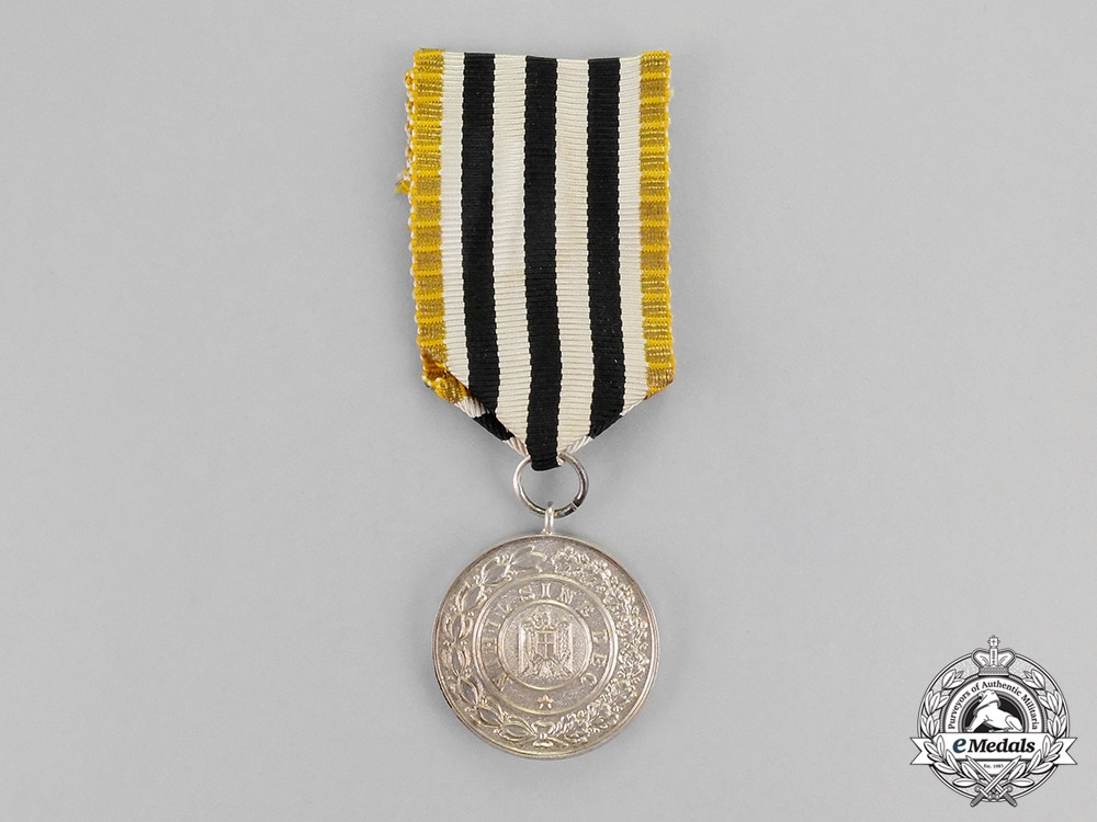 Romania, Kingdom. A House Order of Hohenzollern, 2nd Class, Silver Grade Medal