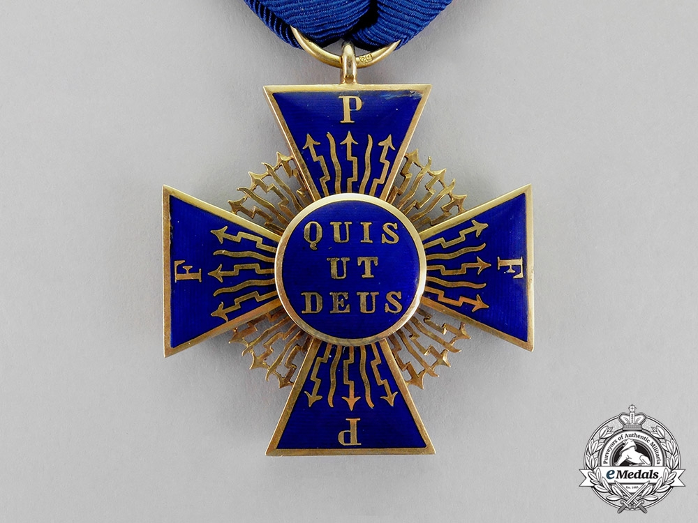 Bavaria. A Royal Merit Order of St. Michael in Gold, Second Class Knight's Cross, by E.Q, c.1865