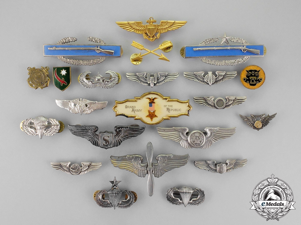 United States. Twenty-Two Armed Forces Badges