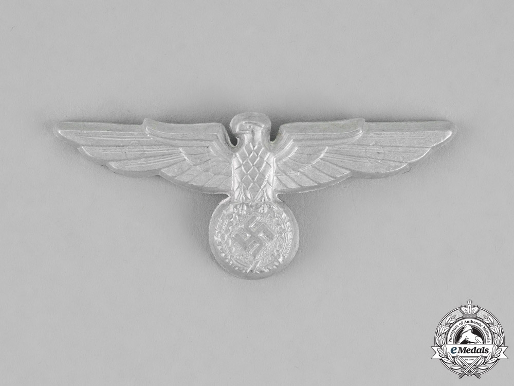 Germany. A Complete Set of Bahnschutzpolizei Official's Visor Cap Insignia