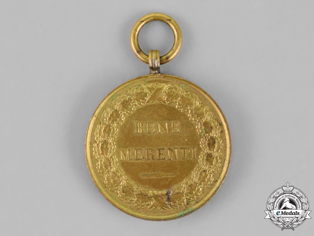Romania, Kingdom. A Bene Merenti Medal, 1st Class, Gold Grade, c.1879