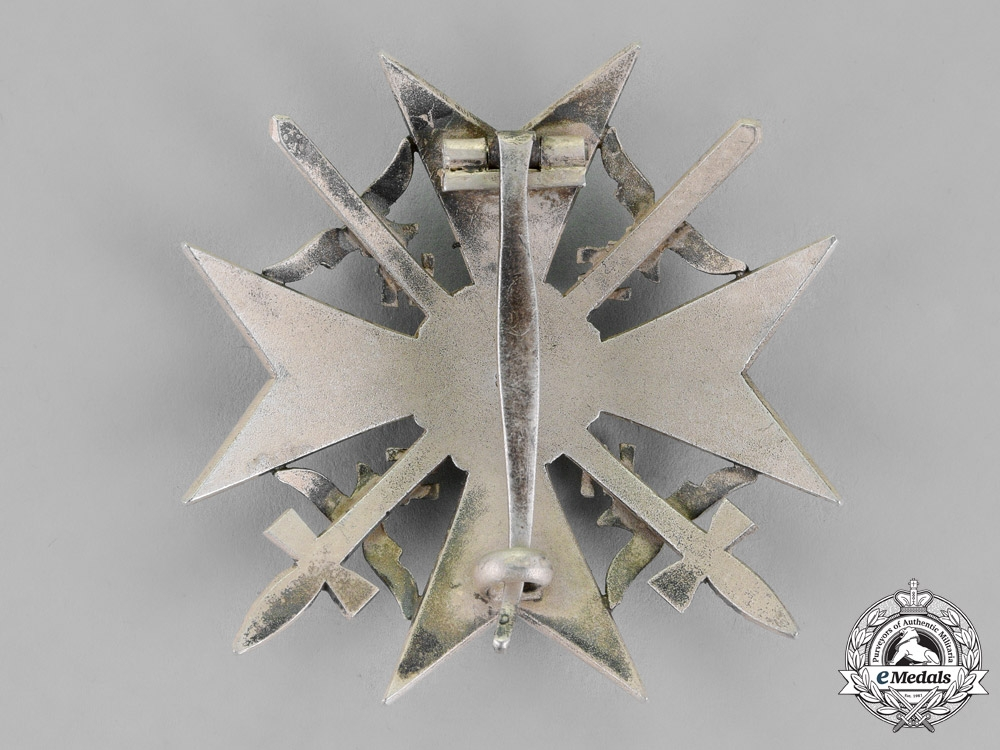 Germany. A Spanish Cross, Silver Grade, With Swords, by Juncker