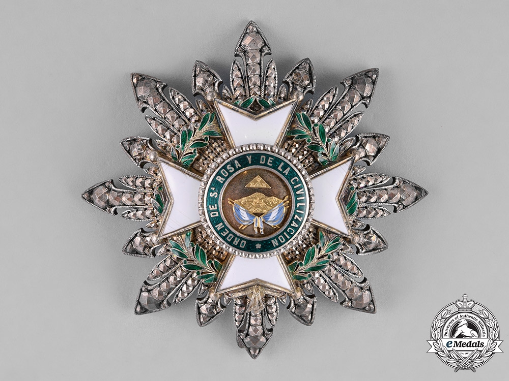 Honduras, Republic. An Order of Santa Rosa and of Civilization, Grand Cross Star, by Lemaitre, c.1880