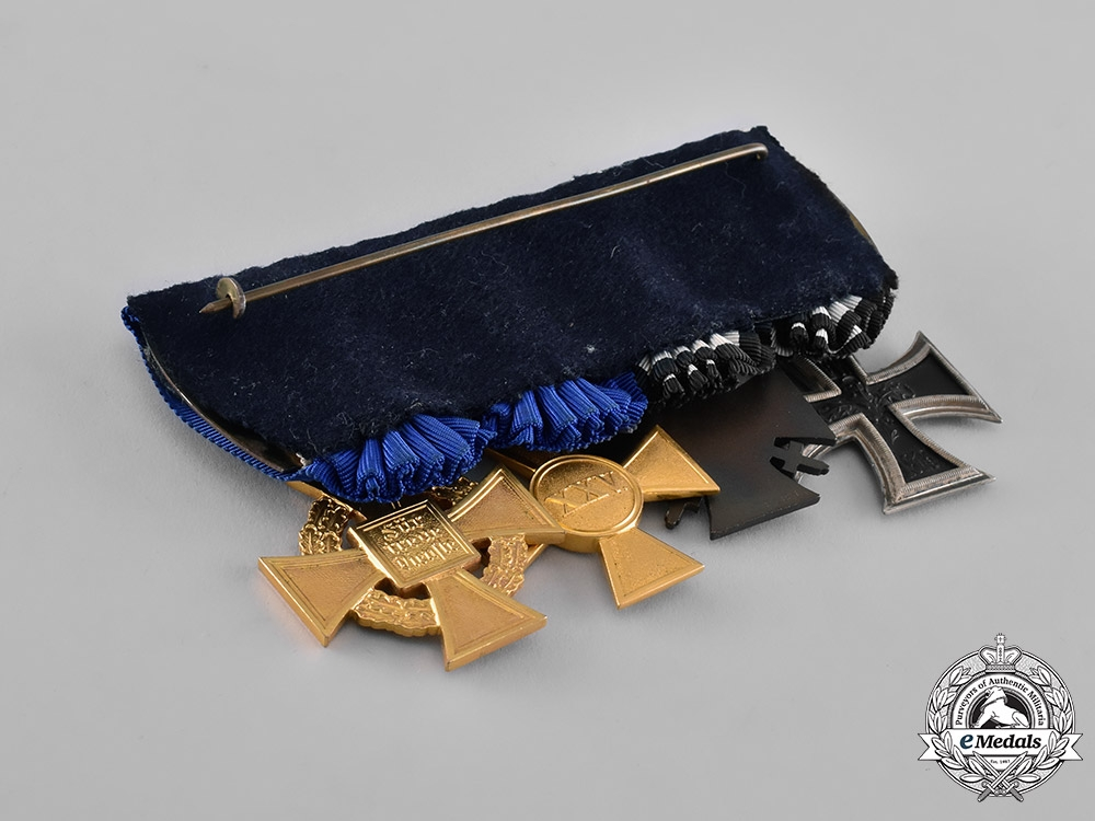 Prussia, State. A First and Second War Long Service Medal Bar