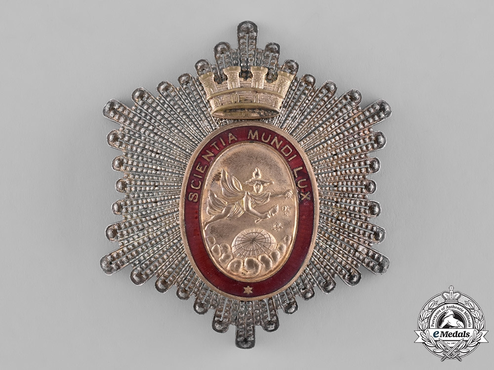 Spain, Second Republic. A Star of the Royal Hispanic American Academy of Sciences, c.1935