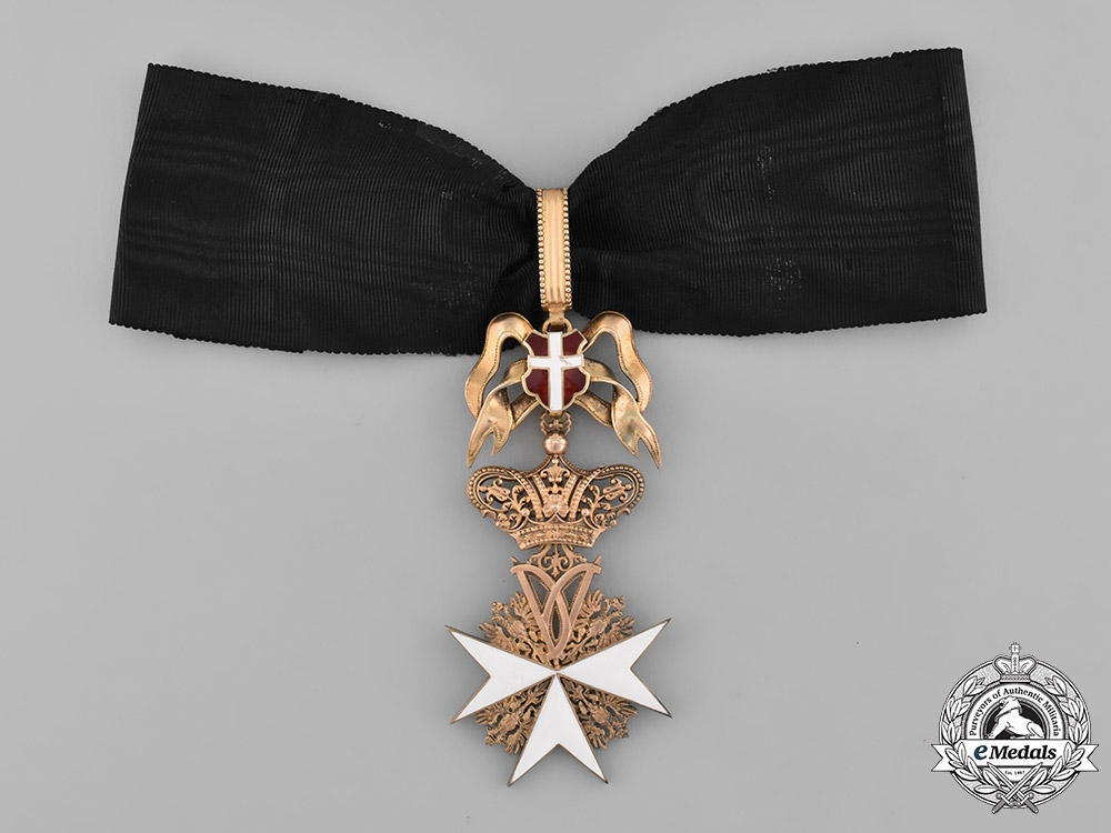 Austria, Empire. An Order of the Knights of Malta, Donat Cross Neck Badge