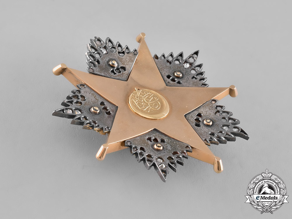 Turkey, Ottoman Empire. An Order of Charity, I Class Star in Gold, Diamonds, & Rubies, c.1900