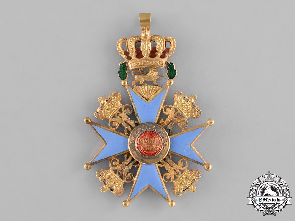 Braunschweig, Dukedom. An Order of Henry the Lion in Gold, Grand Cross, by A. Lemme, c.1840