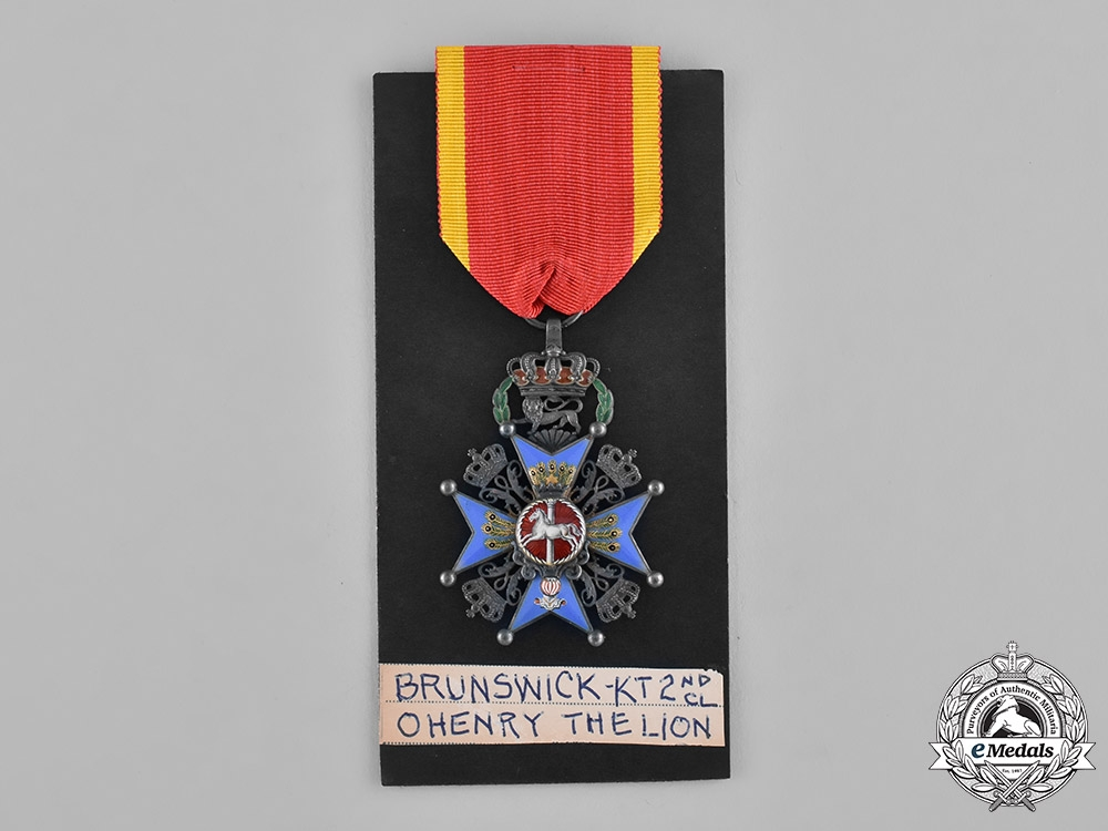 Braunschweig, Dukedom. A House Order of Henry the Lion, 2nd Class Knight, c.1910