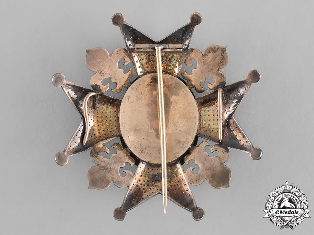 Spain, Kingdom. A Royal and Distinguished Order of Charles III, Grand Cross Star, c.1870