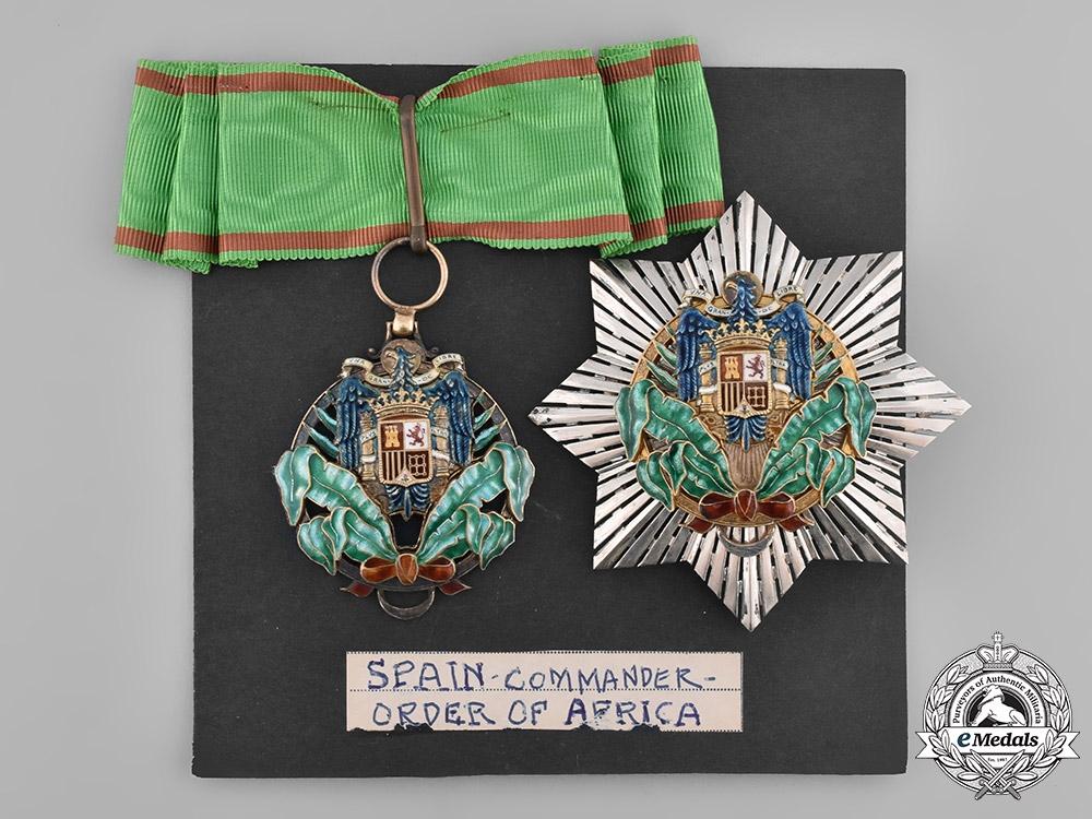Spain, Franco Period. A Civil Order of Africa, Commander, c.1960