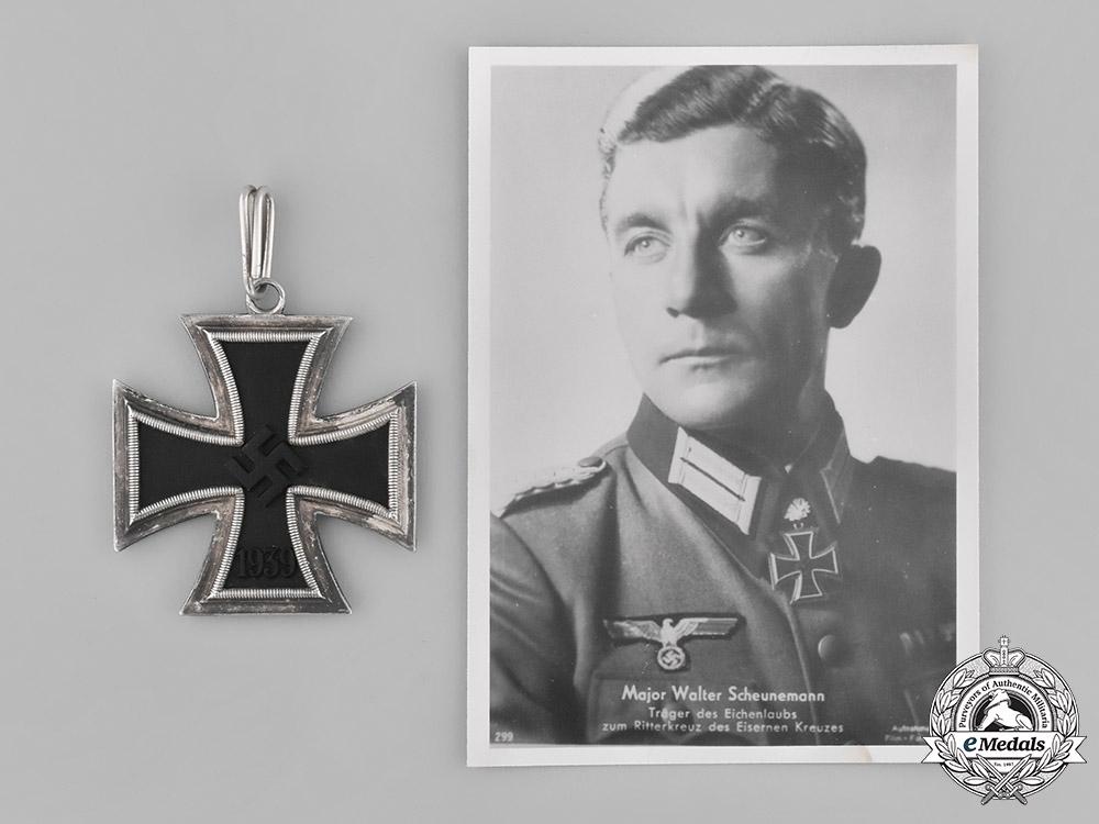 Germany. A Knight's Cross of the Iron Cross 1939 to Walter Scheunemann, by C. E. Juncker