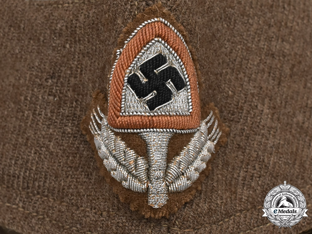Germany, RAD. A National Labour Service Officer's Overseas Cap