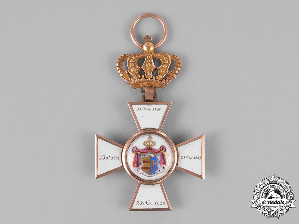 Oldenburg, Grand Duchy. A House and Merit Order in Gold, I Class Knight, c.1900