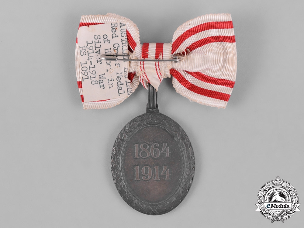 Austria, Empire. An Honour Decoration of the Red Cross, Silver Medal with W.D
