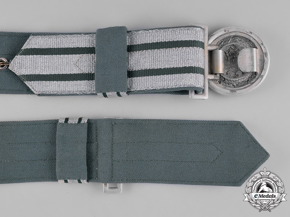 Germany, Heer. A Wehrmacht Heer (Army) Officer's Brocade Dress Belt & Buckle