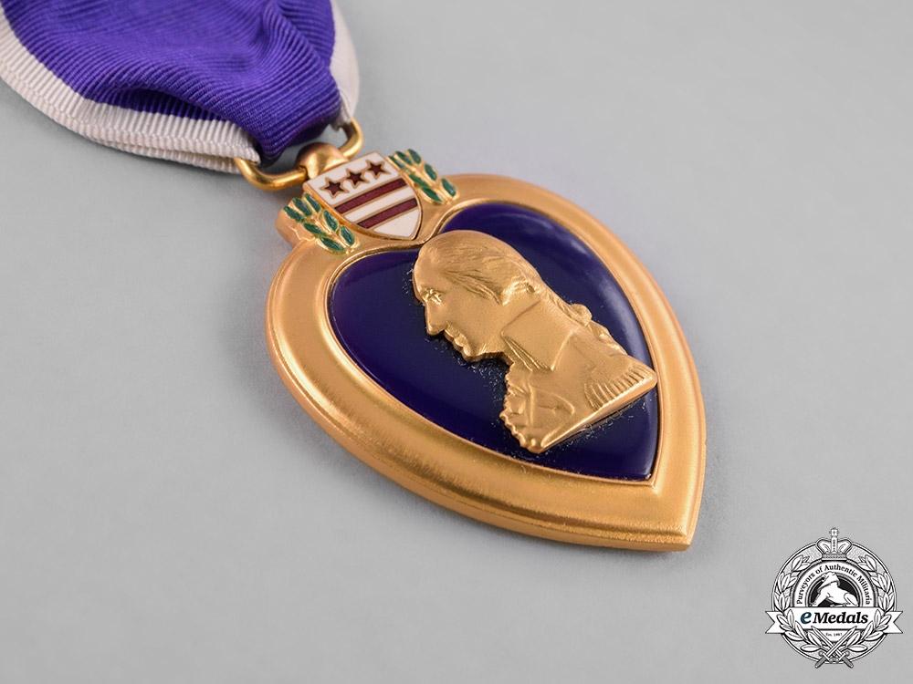 "United States. A Purple Heart to Private I Class Sarrazinof  ""Merrill's Marauders"", KIA at Myitkyina, Burma"