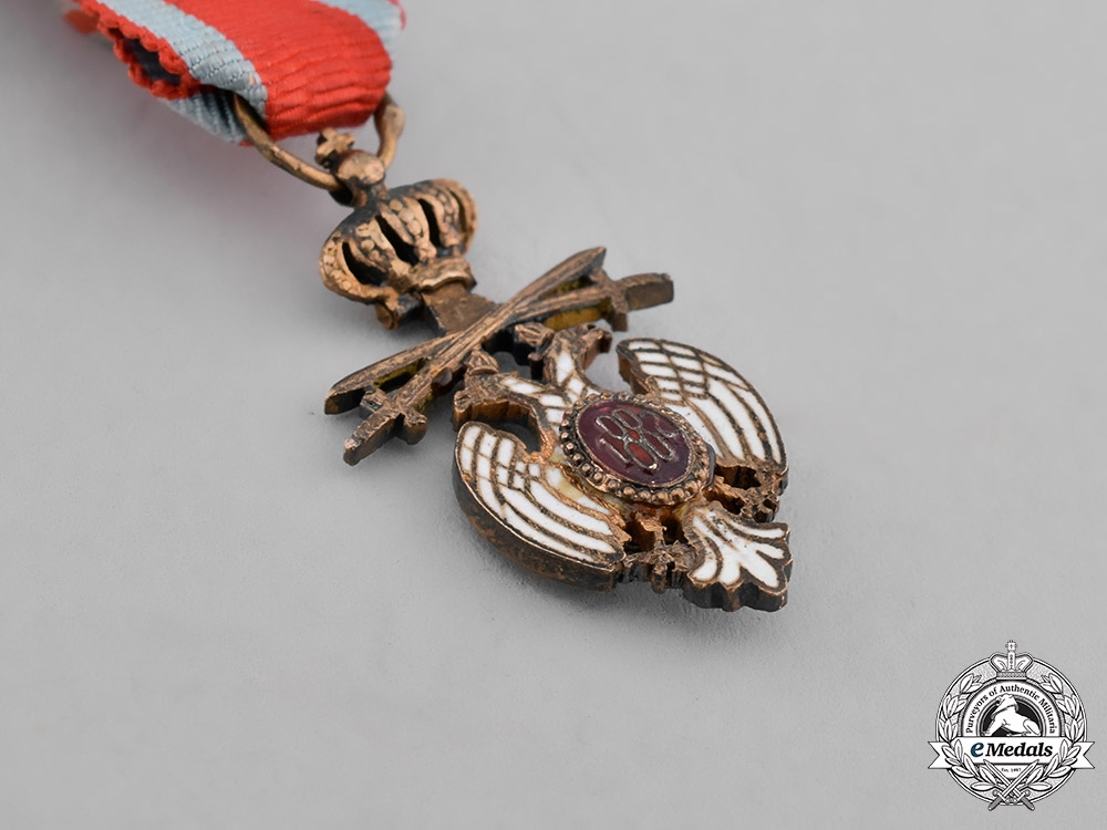Serbia. A Miniature Order of the White Eagle, Officer, Type II (1903-1941)