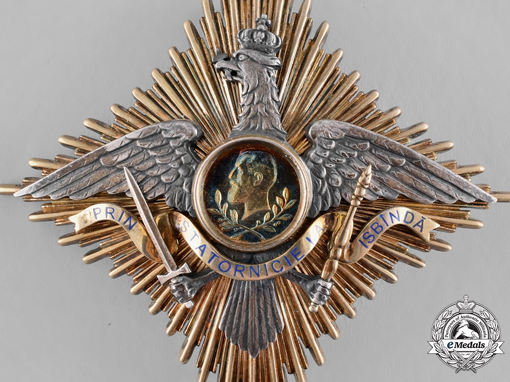 Romania, Kingdom. An Order of Carol I, Grand Officer's Star, by Paul Tegle, c.1909