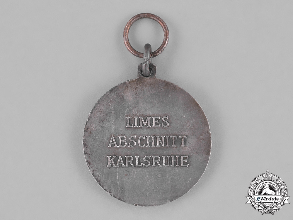 Germany, Third Reich. A 1938 J. Berger Construction Company West Wall Participation Medal