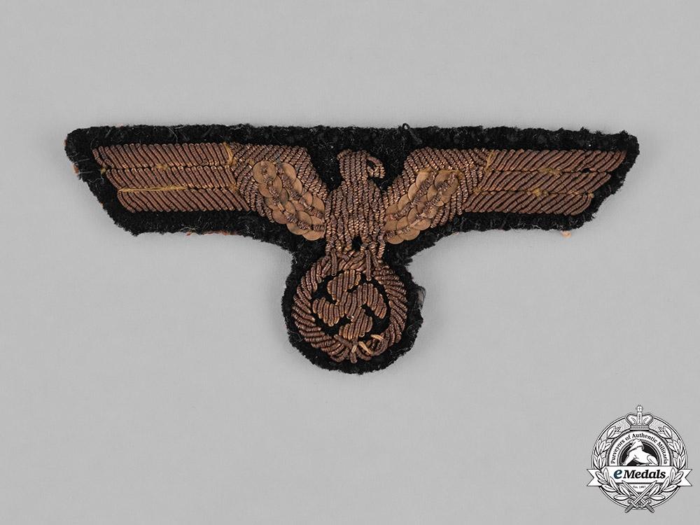 Germany Kriegsmarine. A Naval Officer's Bullion Tunic Eagle, Uniform Removed