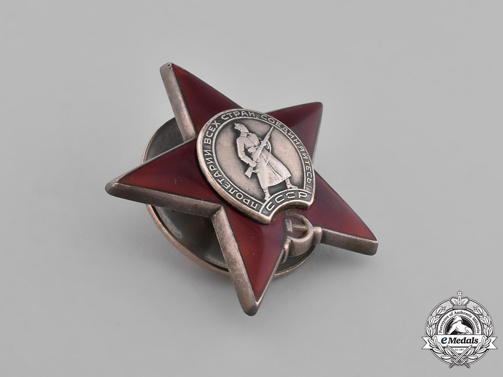 Russia, Soviet Union. Two Orders and One Cap Badge