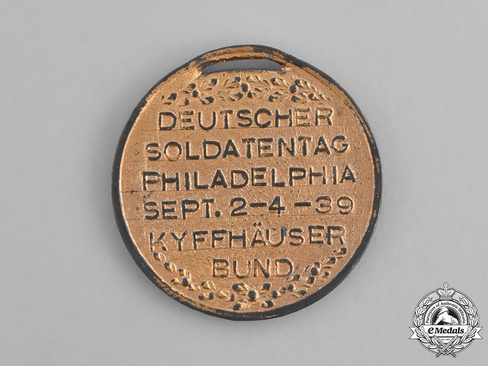 "Germany. An 1939 American Kyffhäuser League ""Day of German Soldiers"" Medal"
