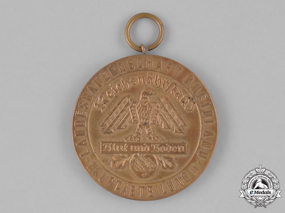 "Germany. A Blood and Soil Rheinland Landesbauernschaft ""For Exceptional Achievement"" Medal"