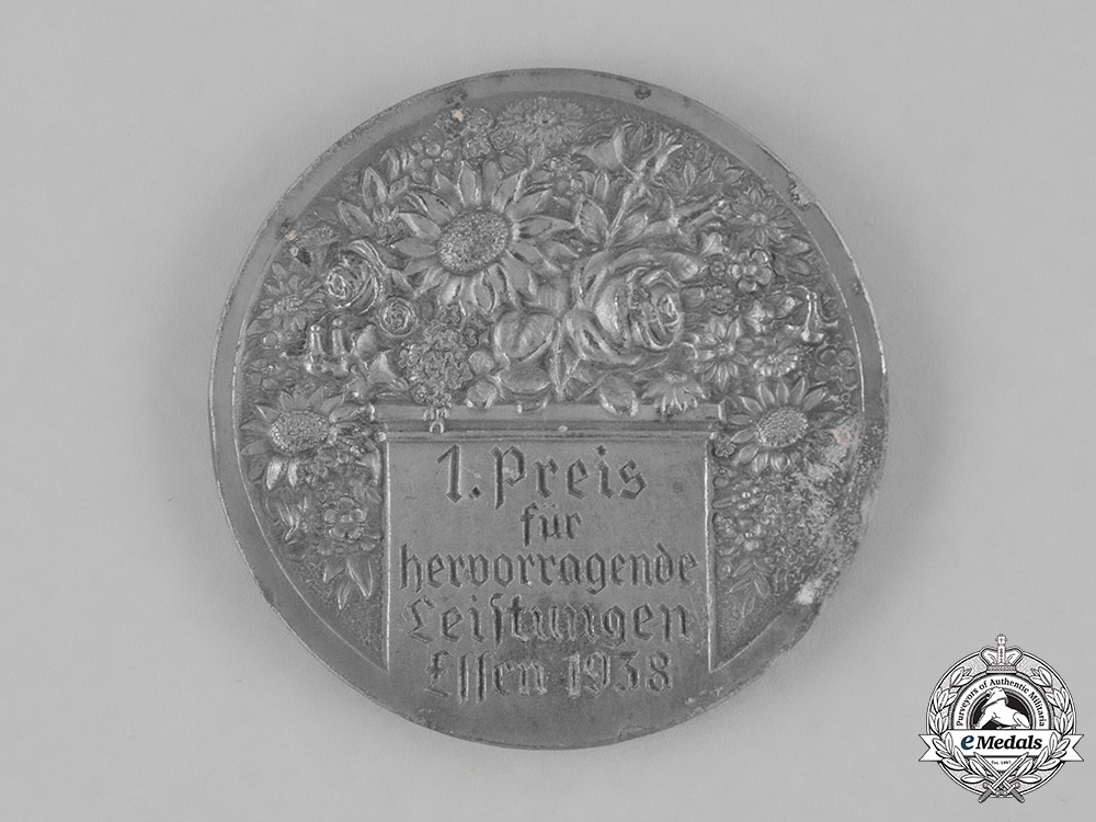 Germany. A Blood and Soil Reichs Exhibition of Gardening 1st Prize Medal