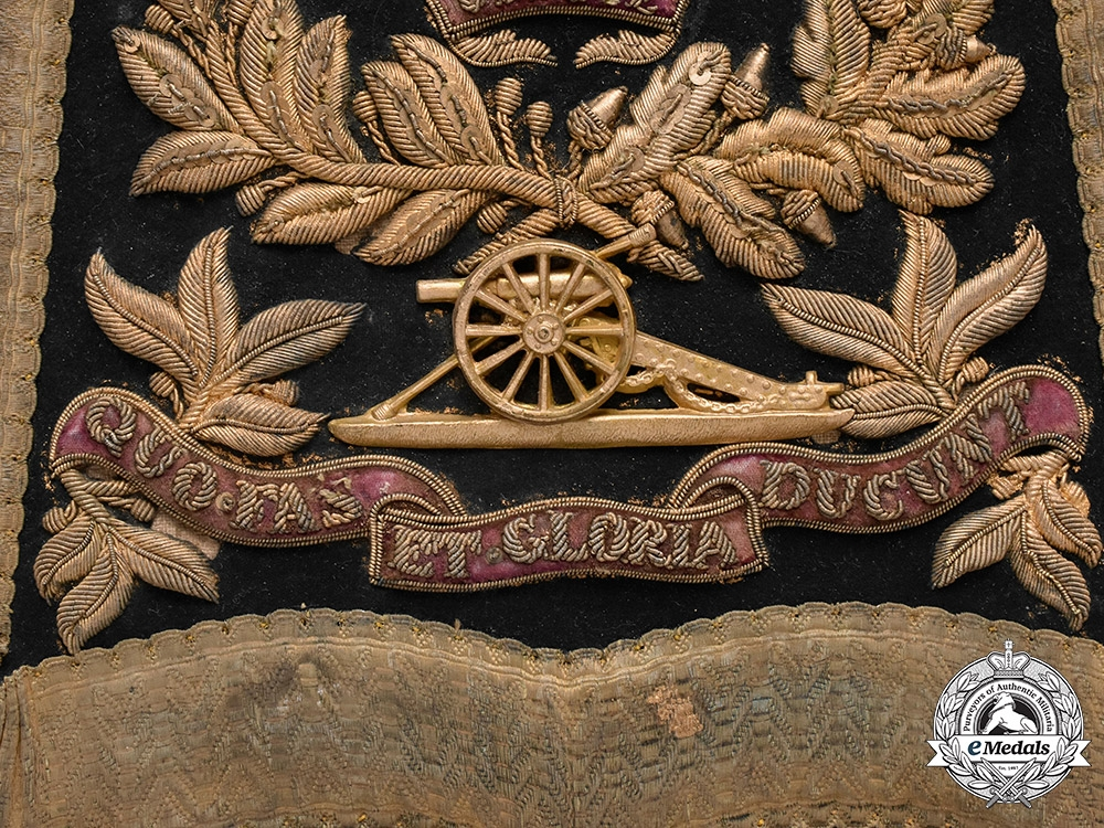 United Kingdom.  A Royal Artillery Officer's Sabretache, c.1885