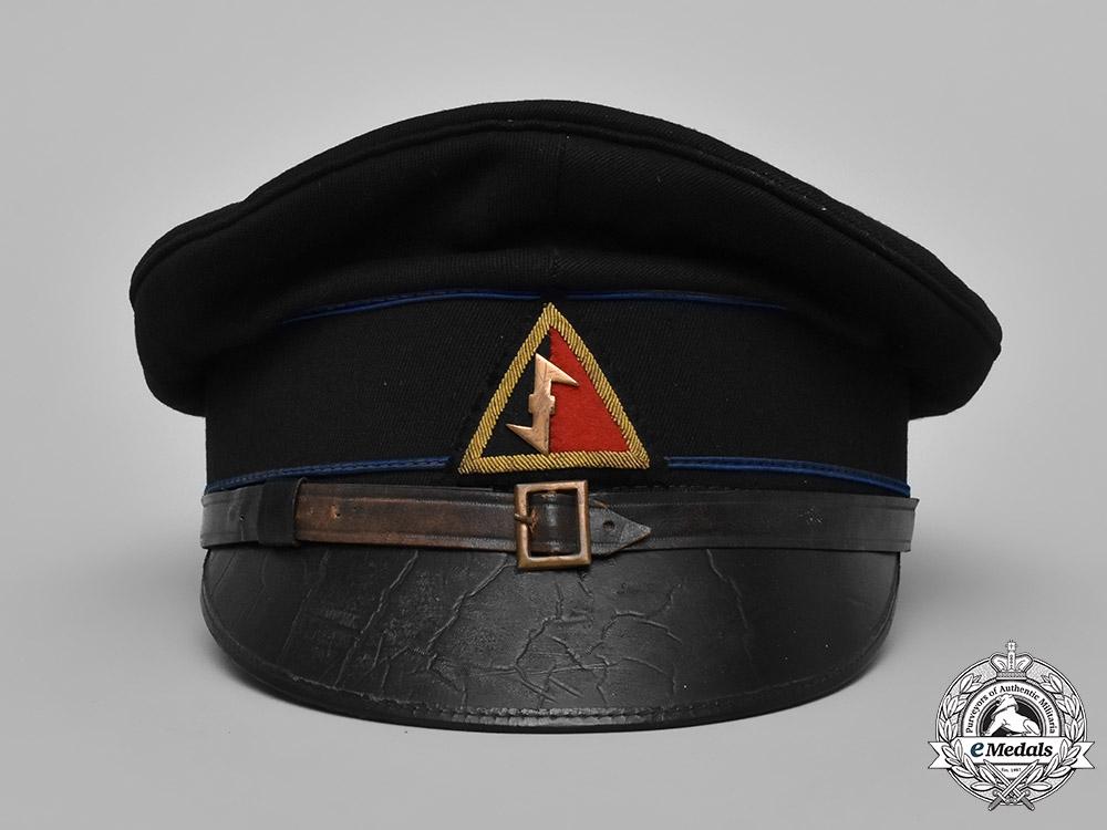 Netherlands, NSB. A Weerbaarheidsafdeling (Resilience Department) Group Leader's Uniform & Visor