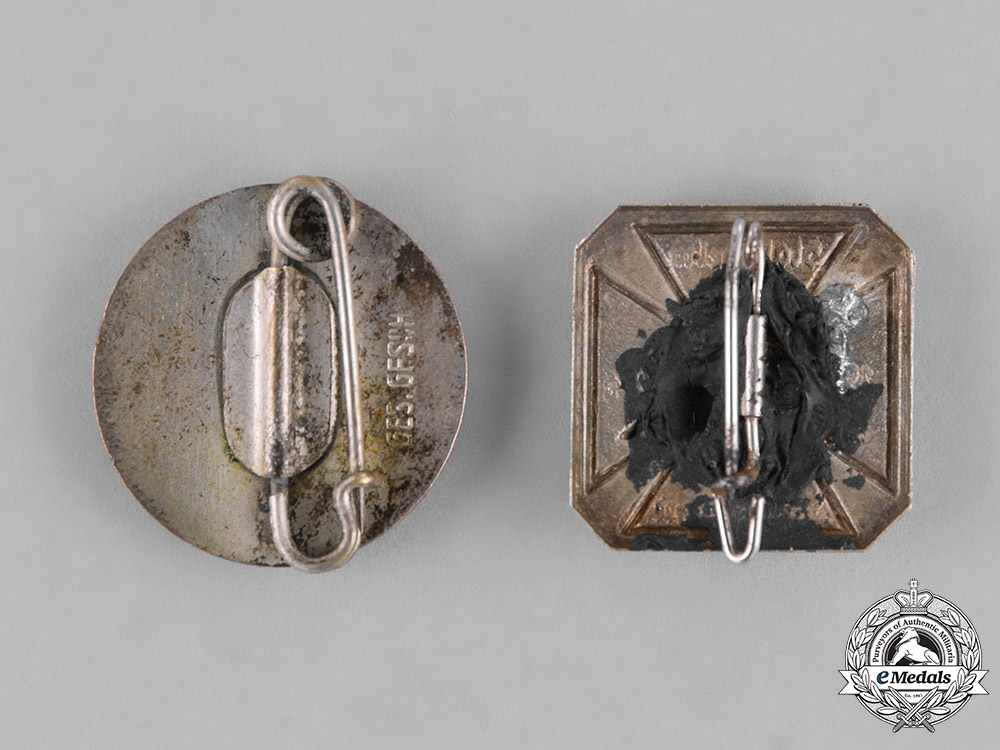 Germany, Weimar. A Grouping of Stahlhelm Membership Badges