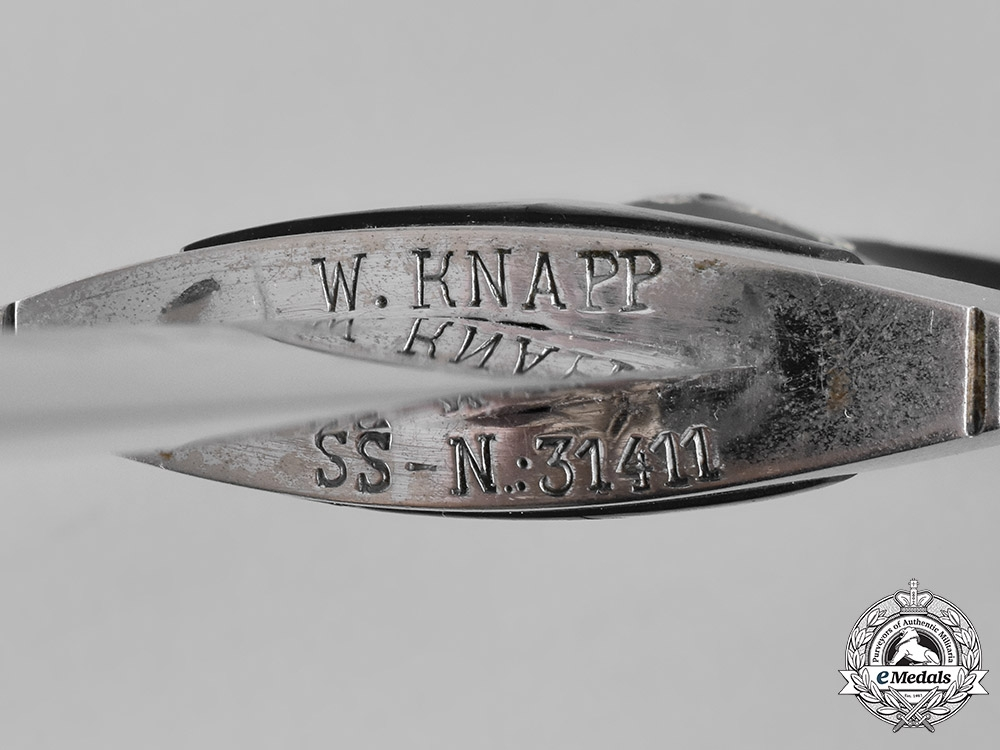 Germany, SS. A Model 1936 Chained Leader's Dagger Named to W. Knapp, SS Member 31411