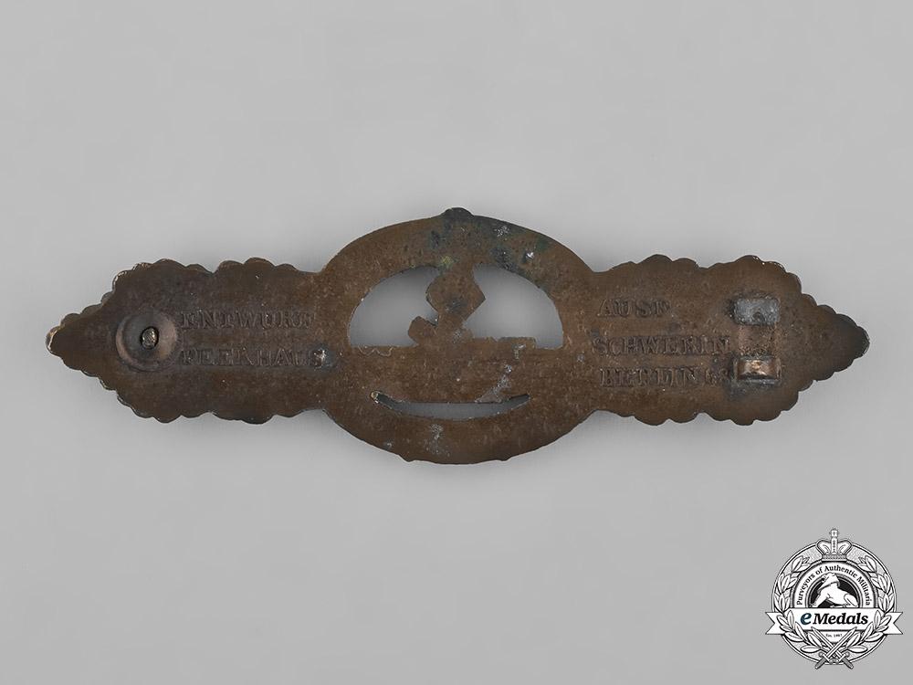 Germany, Kriegsmarine. A Bronze Grade U-Boat Combat Clasp, Second Pattern, by Schwerin & Sohn