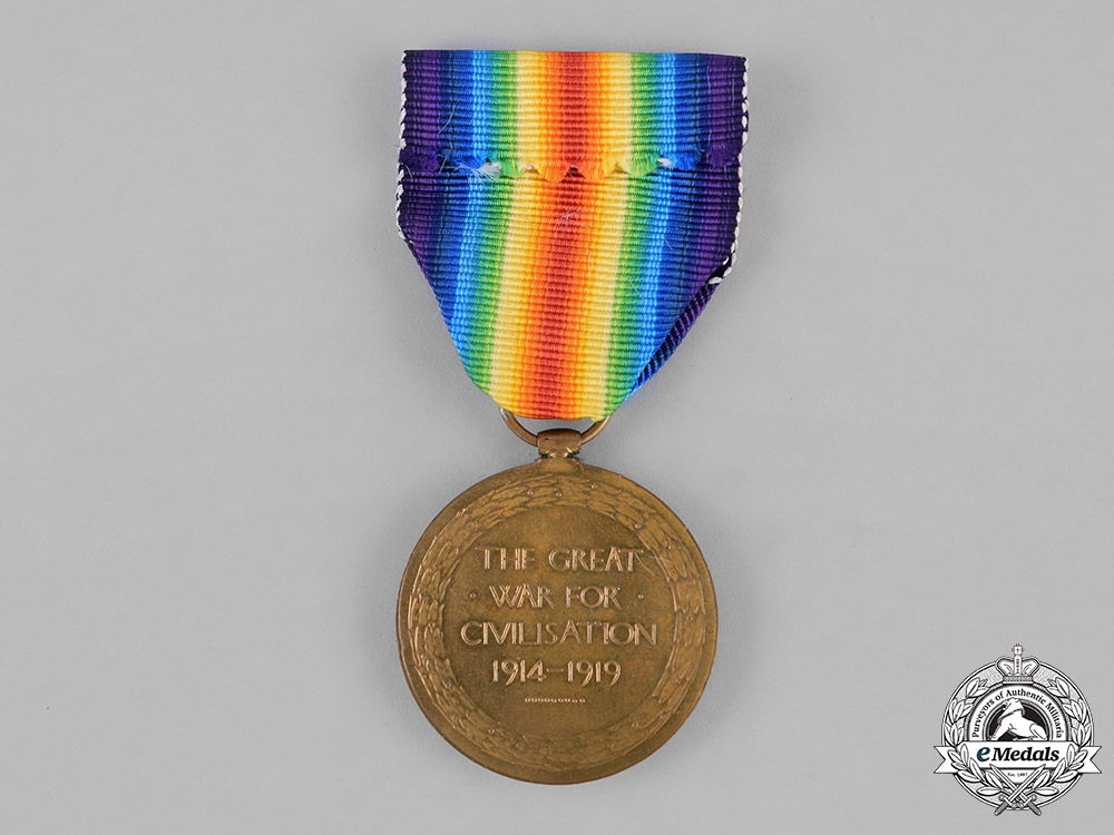 Canada. A First War Victory Medal, to Private John Wright, Canadian Forestry Corps, DOD