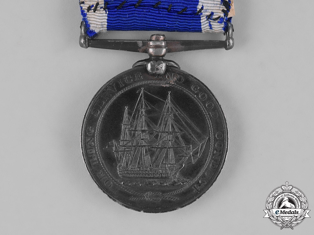 United Kingdom. A Royal Naval Long Service &Good Conduct Medal, H.M.S. Excellent