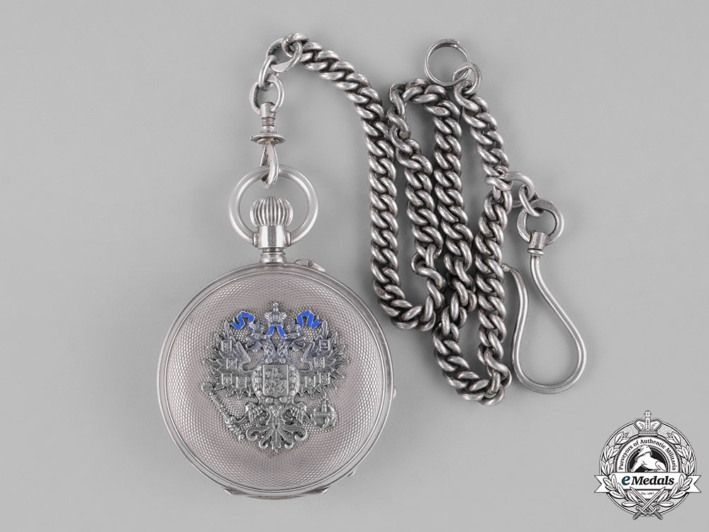 Russia, Imperial. A Presentation Pocket watch by Pavel Bure (Paul Buhre).