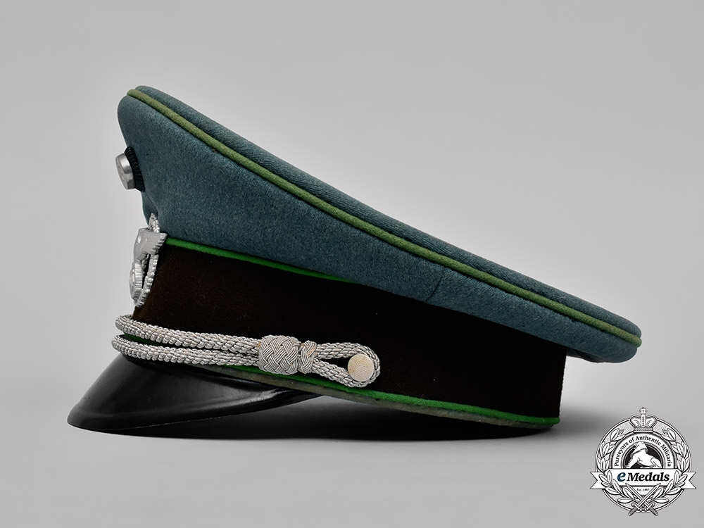 Germany, Ordnungspolizei. A Schutzpolizei (Protection Police) Officer's Visor Cap by Hans Pöllmann