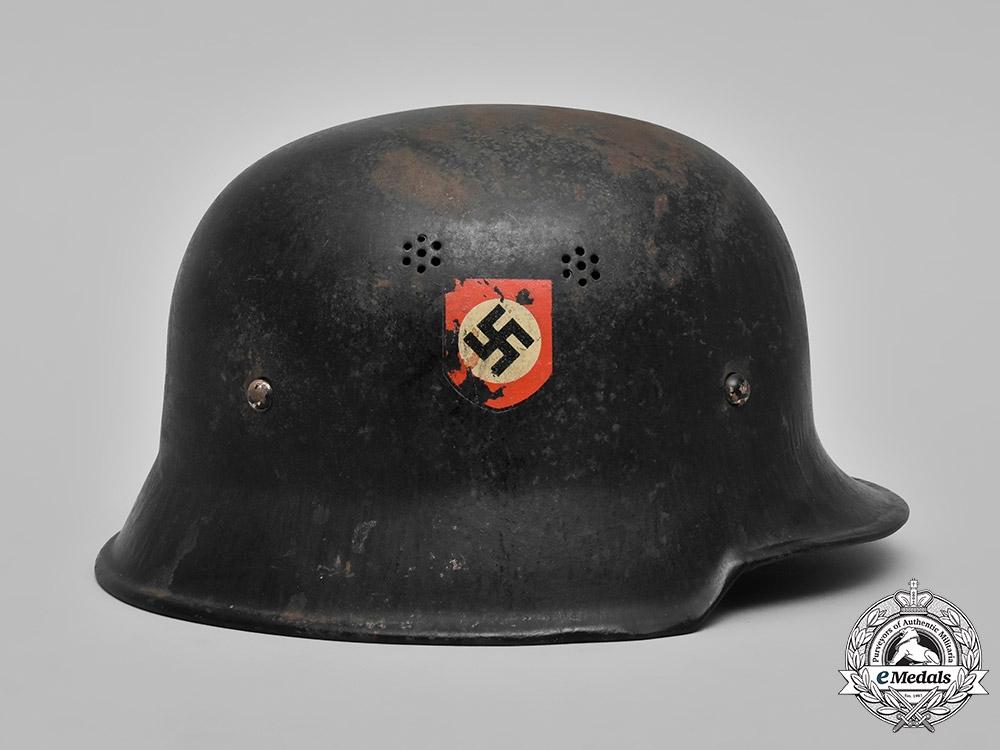 Germany, Ordnungspolizei. A Feuerschutzpolizei (Fire Protection Police) M34 Steel Helmet
