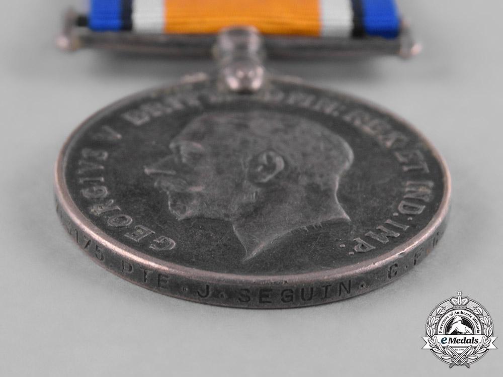 Canada. A British War Medal, Private John Baptiste Seguin, Memorial Cross Recipient in 1949