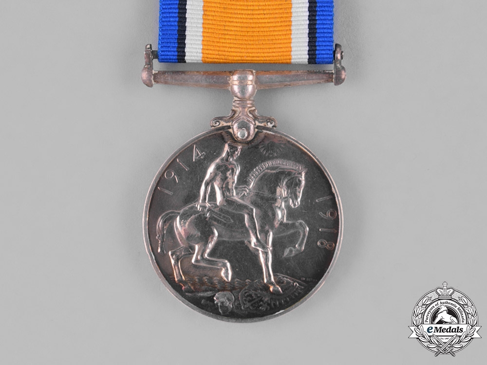 Canada. A British War Medal,  CMMG, Wounded during the Battle of Mont Sorrel, June 1916
