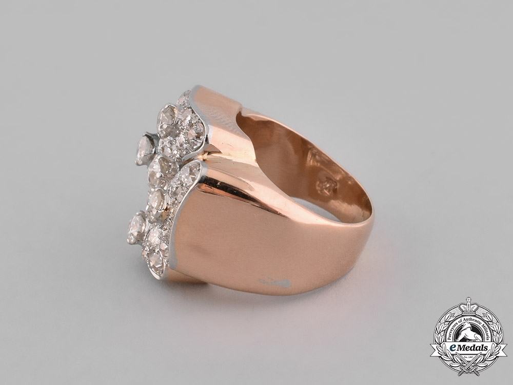 Germany, Austria, United Kingdom. An Order of St. John/Johanniterorden Gentleman's Ring in Gold & Diamonds