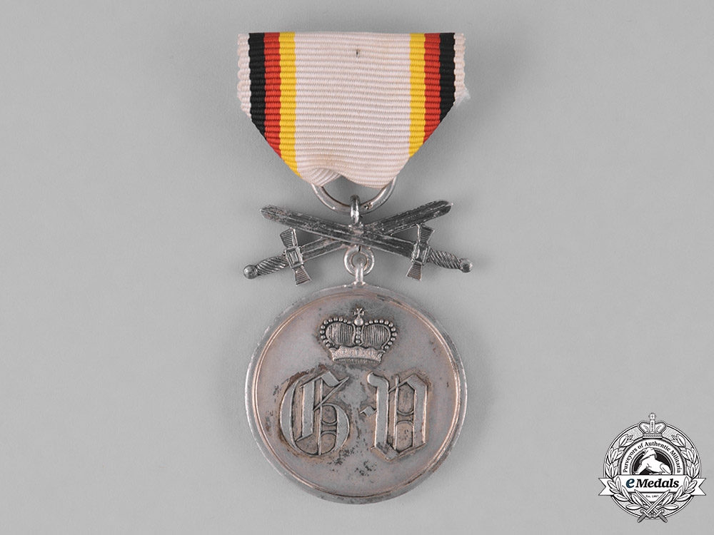 Waldeck, Principality. A Silver Medal of Merit with Swords, c.1914